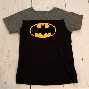 Batman - Boys' T-Shirt w/ Velvet Batman Logo